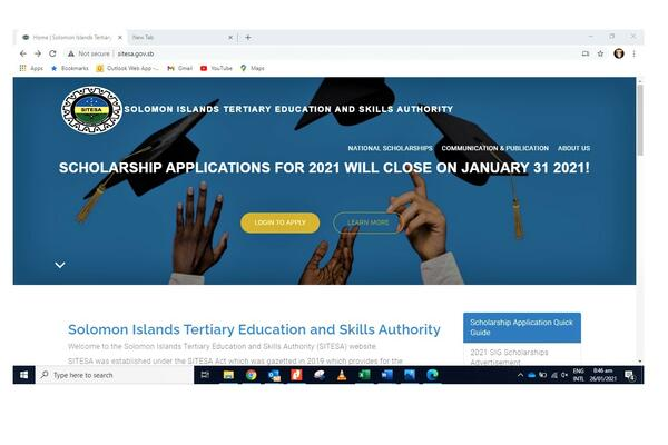 1,000 scholarships are offered by the government for 2021, and while it will be a fully funded scholarship all of the recipients will be based in-country.