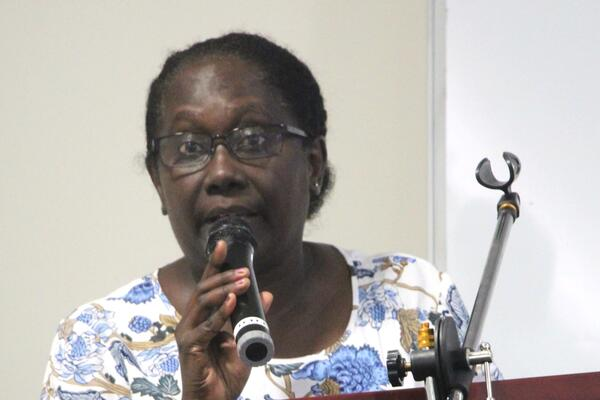 The Permanent Secretary of the Ministry of Health Mrs. Pauline McNeil.