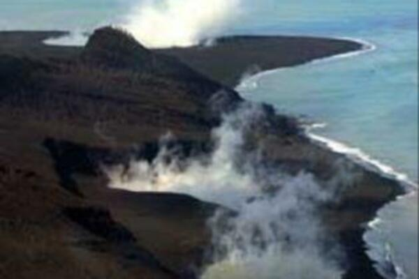 Hunga Ha'apai's three active vents.