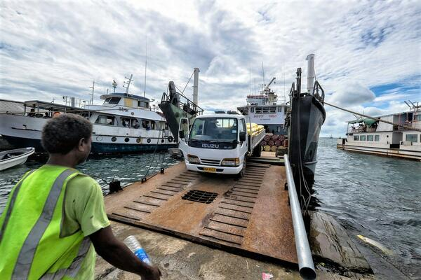 The project will provide urgently needed repairs to one-third of the country's road network and half of the country's wharves.