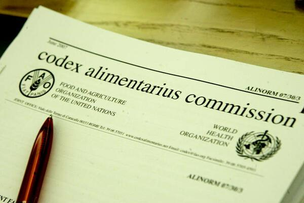 The Codex Alimentarius Commission is a joint program between FAO and WHO for the development of technical standards for most foods and their manufacturing processes, and food safety.