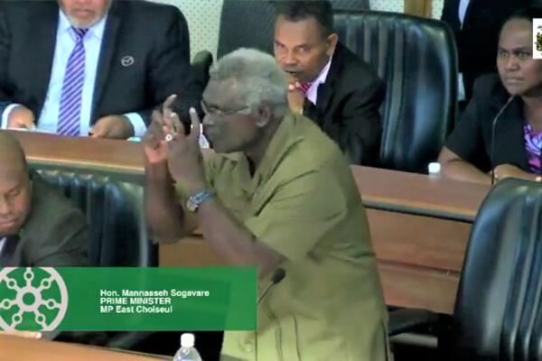"""They need to come and sit down and talk with us. Or you go and see what is happening in the constituencies. You will be amazed"", Sogavare said."