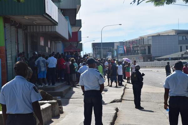 RSIPF policing the streets of Honiara.