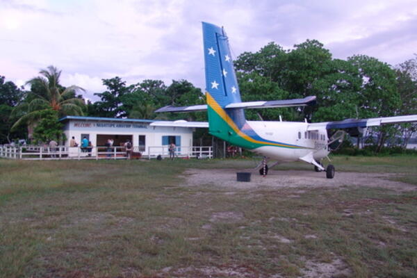 The Gizo upgrade follows infrastructure work on the Munda airfield and is the latest in the government's upgrading of aviation infrastructure around the country.