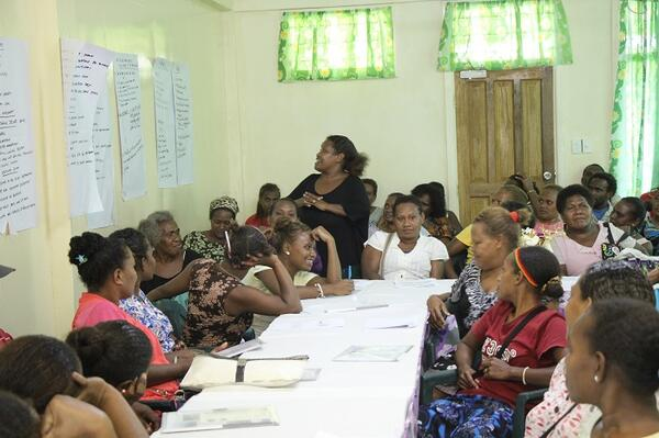 The 53 women and seven men took part in a three-day Information Sharing and Planning workshop in Auki last week as part of UN Women's Markets for Change project.