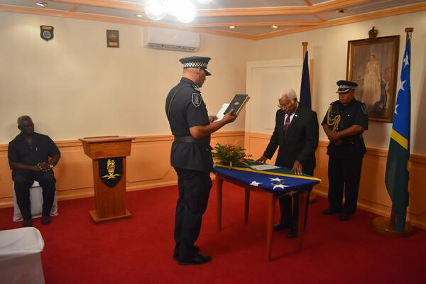 Mostyn Mangau's appointment makes him the first local Police Commissioner after RAMSI's departure.