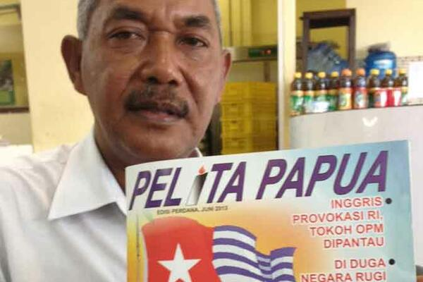 DISAPPOINTED: Fidelis Jeminta, chief editor of Pelita Papua in Jayapura, said police action would again deter freedom of the press in West Papua. 