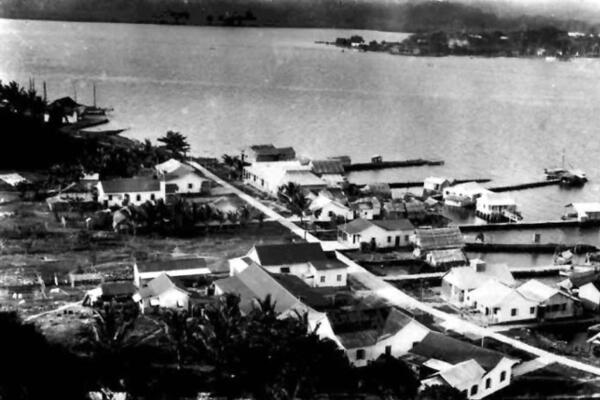 The old capital, Tulagi, in the 1930s, was a small but busy port for traders.