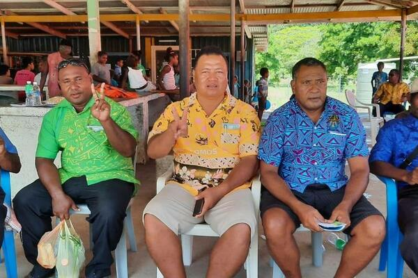 Premier Hon. Clay Forau and few other MPAs who were vaccinated during launch day.