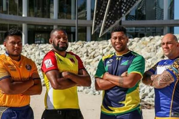 Representatives of the participating teams at the Oceania Rugby 15s.