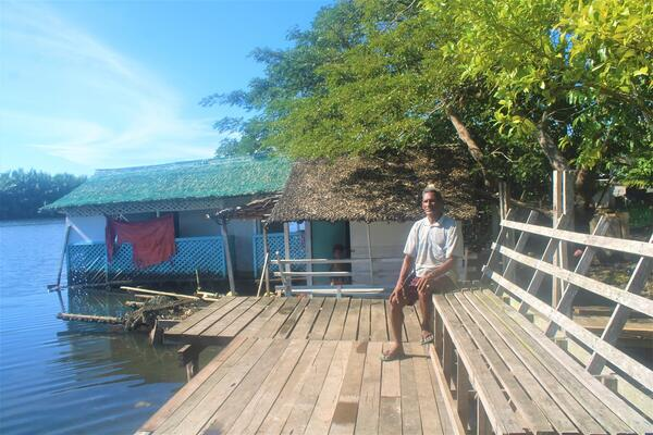 """""""The floating raft business was suggested by a friend from Philippines, he told me that it was popular with tourists in his country – I saw it as an opportunity so I built this floating house raft."""""""