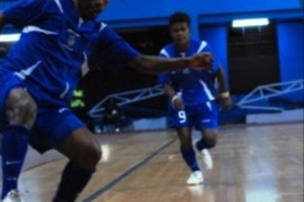Solomon Islands Kurukuru dominating the Oceania Futsal Championships in Suva, Fiji.