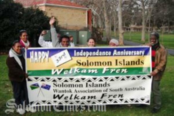 The SI community in South Australia displaying their newly banners, kindly donated by Tribal Art Studio. The studio is owned by our own local artist Mr. Jimmy Nare in Melbourne.