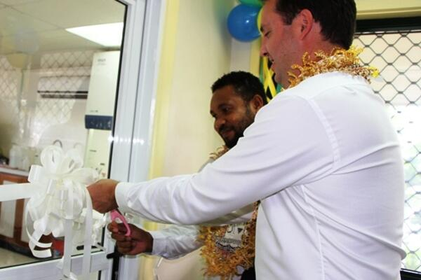The National Cocoa Testing Laboratory was officially opened by the visiting Australian Parliamentary Secretary the Hon Steven Ciobo and the Minister for Commerce, Industries, Labour & Immigration, William Marau.