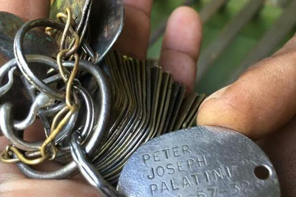 US dog tags found in Solomon Islands.