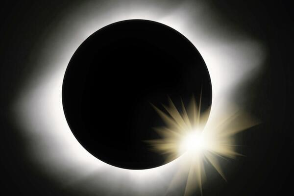 During the eclipse, the moon goes directly in front of the Sun completely blocking it out treating Solomon Islanders to a beautiful display of the solar corona.