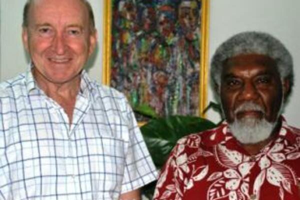 RAMSI Special Coordinator, Graeme Wilson and Vanuatu's Foreign Minister, Joe Natuman