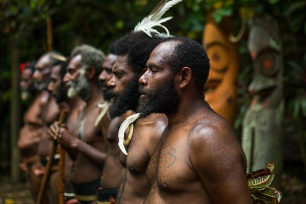When they arrived in Vanuatu, they carried some Papuan ancestry but still spoke languages from a linguistic family common in the islands of southeast Asia, called Austronesian.