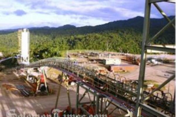 Gold Ridge Mine processing plant, located around 20 kilometres east of Honiara.
