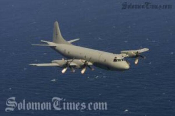 The New Zealand's P-3K Orion aircraft that came to the Solomon Islands for two days.