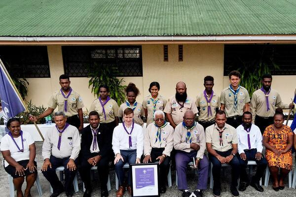 Members of the Solomon Islands Scouts Association Management Team.