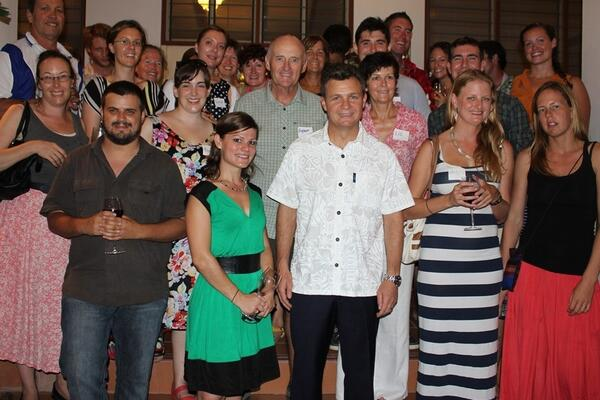 Australian volunteers working in Solomon Islands met visiting Australian Parliamentary Secretary Matt Thistlethwaite.