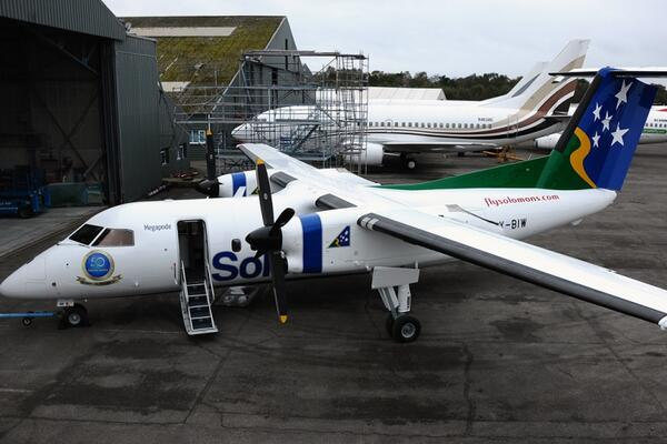 Solomon Airlines was able to demonstrate its creditworthiness, and the viability of the project, which was to purchase the Dash-8 aircraft, Megapode.