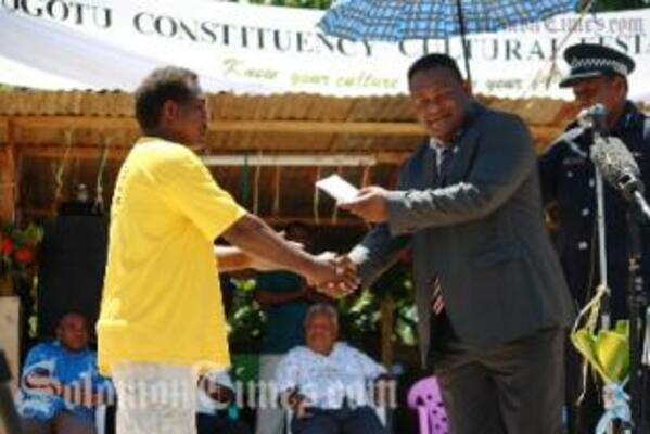 Deputy Prime Minister, Hon. Manasseh Maelanga in Gao-Bugotu this week.