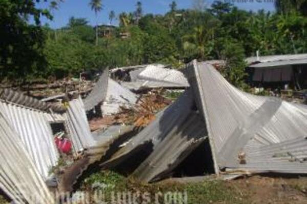 More than 1000 people were left homeless following the recent earthquakes and tsunami in Western Province.