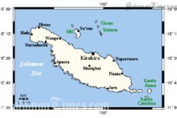 Makira Province is one of the bigger Provinces of the Solomon Islands.