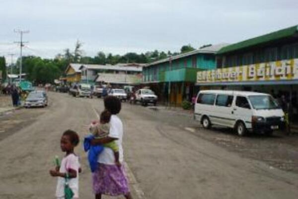 A busy day in Auki town, the provincial capital of Malaita.
