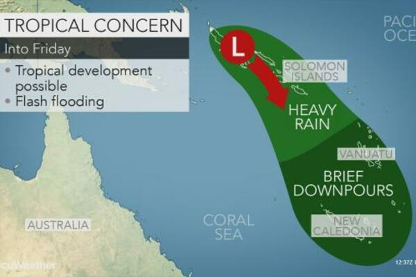 Rain and thunderstorms have already brought heavy rainfall to parts of the Solomon Islands, and additional downpours are forecast in the coming days.
