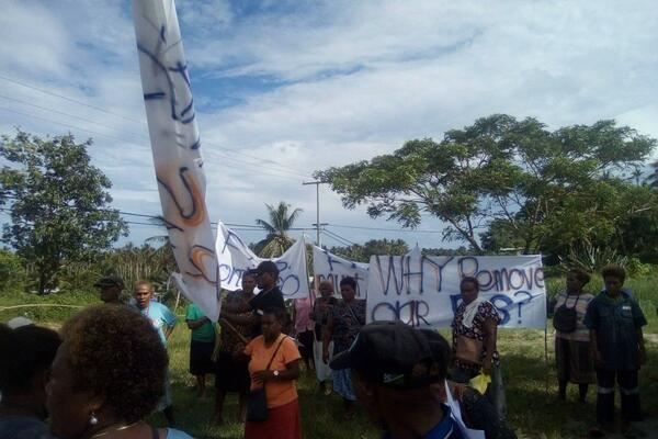 The protest was streamed live on Facebook by the Youth Online Campaign - a youth movement seeking to empower youths through training and dissemination of information.