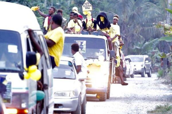Crowded campaign rallies and long float parades have been going all weekend with boisterous political supporters decked out in party colours, waving banners and voicing their approval for their chosen election candidate.