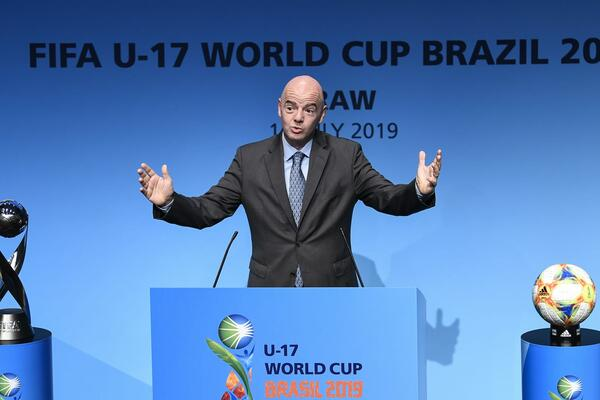 FIFA President Gianni Infantino at the ceremony.