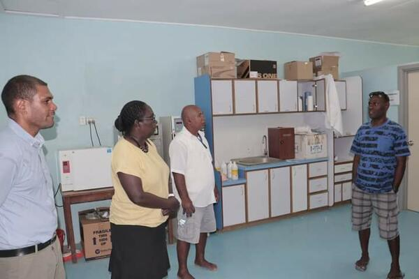 Health PS visited the various hospital departments, laboratory, surgical, neo-natal, medical, pharmacy and so forth spending time listening to the staff there and jotting down notes for necessary follow up actions upon return.