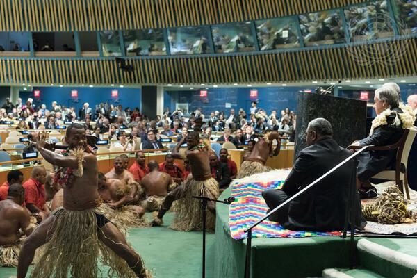 A performance by Fiji at the opening of the UN Ocean Conference in 2017.