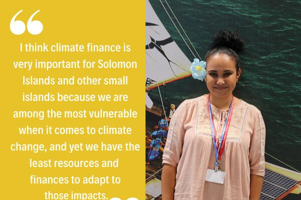 Ms. Maryann Puia from the Solomon Islands, is a Pacific Island Represent activist, and the Awareness officer for Pacific Island Students Fighting Climate Change.
