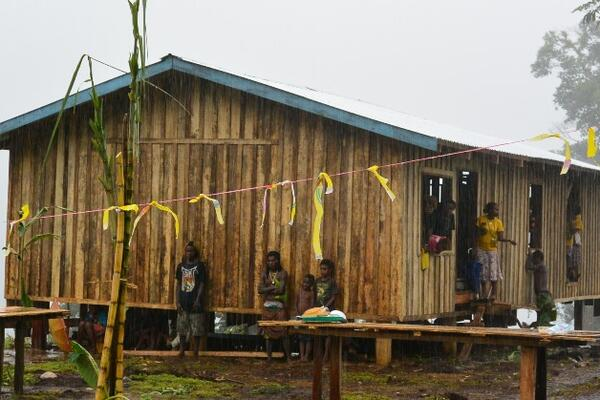The Nanala community is located around four hours walk inland from Gold Ridge, and is home to more than 350 people. The primary school is the first school for the village.