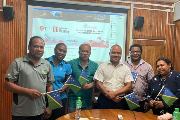 Participants from the Solomon Islands at the Pacific Internet Governance Forum 2021 (PacIGF).
