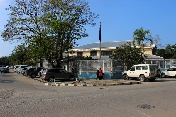 The Australian High Commission office in Honiara.