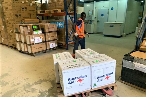 """""""Australia's pledge of up to 1 million doses of AstraZeneca means there will be enough safe and effective vaccine doses to ensure the entire Solomon Islands population over 18 can get vaccinated. This consignment of 50,000 doses is the first of many more batches on their way from CSL in Melbourne,"""" Dr Strahan said."""