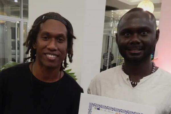 MYIBA was represented by Watson Cyrus Anikwai (L) (MYIBA member) and Hika Joseph (MYIBA Member & Advisor).