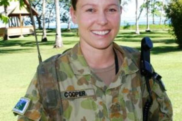 """I've been in the Army for 8 years and I'm so honoured to be representing my country overseas. I hope I can really make a difference to the lives of the locals"" she said  excitedly."