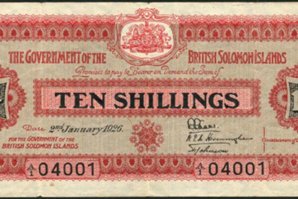 British Solomon Islands 10 shillings Worth Thousands