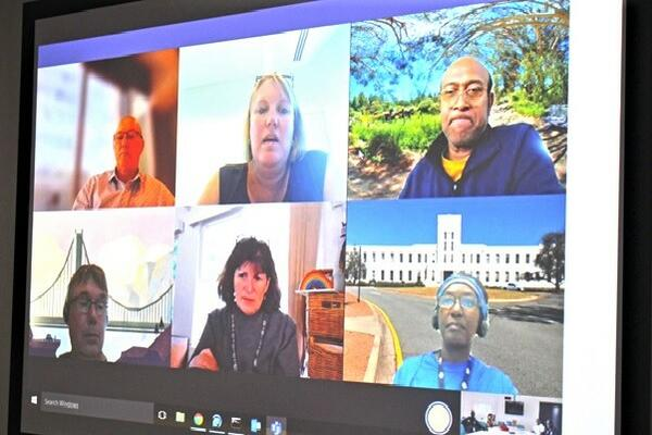 The virtual meeting between Biosecurity Solomon Islands and Australian counterparts.