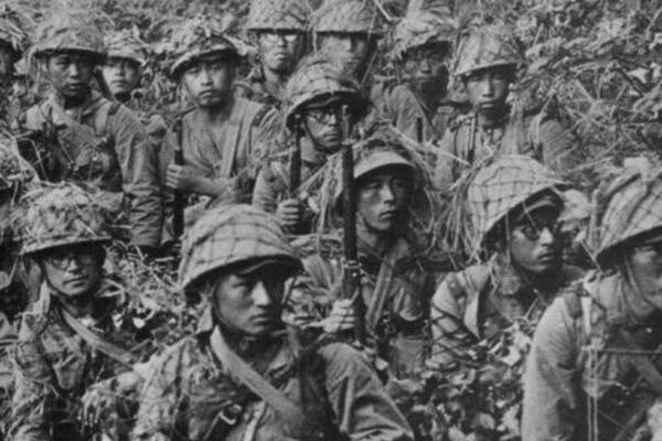 Japanese soldiers in Guadalcanal during WW II.