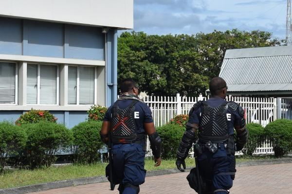 RSIPF Officers provide high visibility police presence in Honiara.