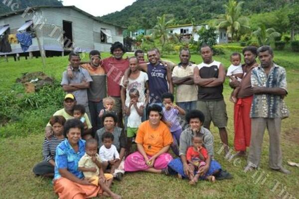 Some of the descendants of Solomon Islanders at their Maniava village in Ra, Fiji.