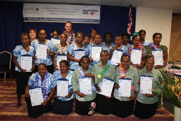 Australian High Commissioner, Matt Anderson and some of the graduates.